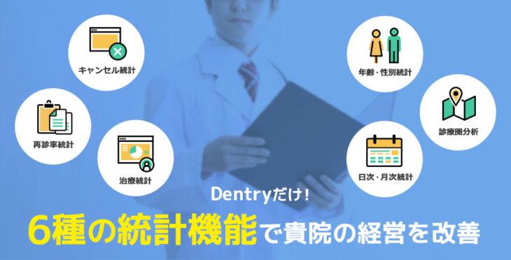 Dentryだけ! 6種の統計機能で貴院の経営を改善